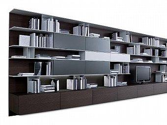 Stil si eleganta pentru biblioteca din living