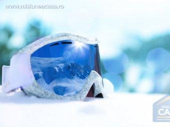 ochelari de ski pe partie