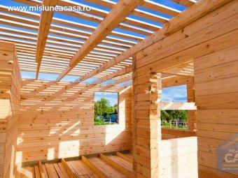 Casa cu structura din lemn