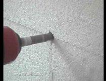 Acoperire goluri polistiren si montare dibluri
