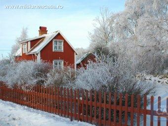 Fatada casa iarna