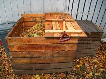 Compost in recipient