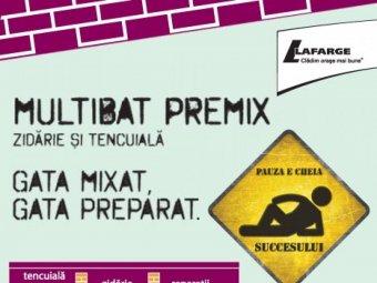Multibat Premix - zidarie si tencuiala. Gata mixat, gata preparat.