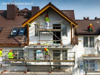 termoizolarea fatadei unei casei cu polistiren expandat