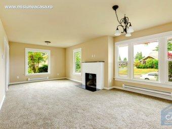 Amenajare living room cu mocheta