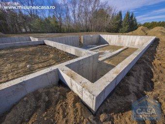 Fundatia unei casei (doar fundatia)