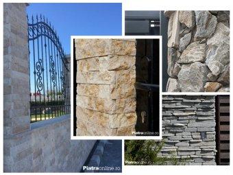Patru tipuri de garduri din piatra naturala.