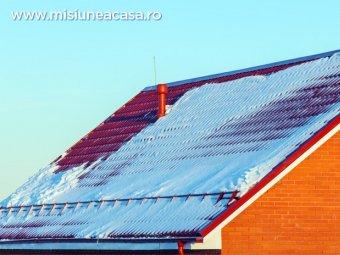 Invelitoare acoperis cu opritoare de zapada