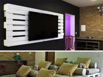 mobilier din paleti - home cinema