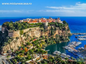 Vedere deasupra orasului Monte Carlo