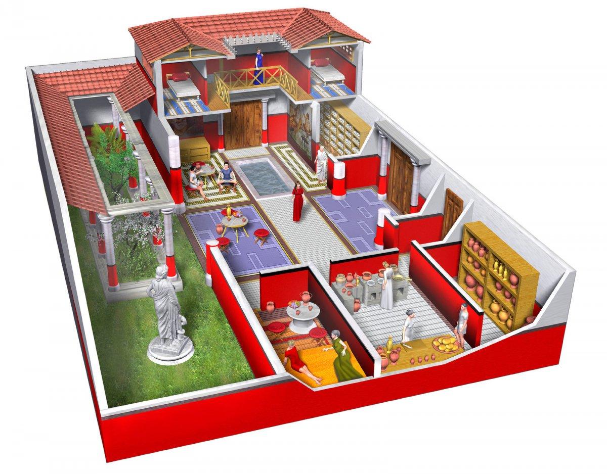 дом римлянина картинки расположенные
