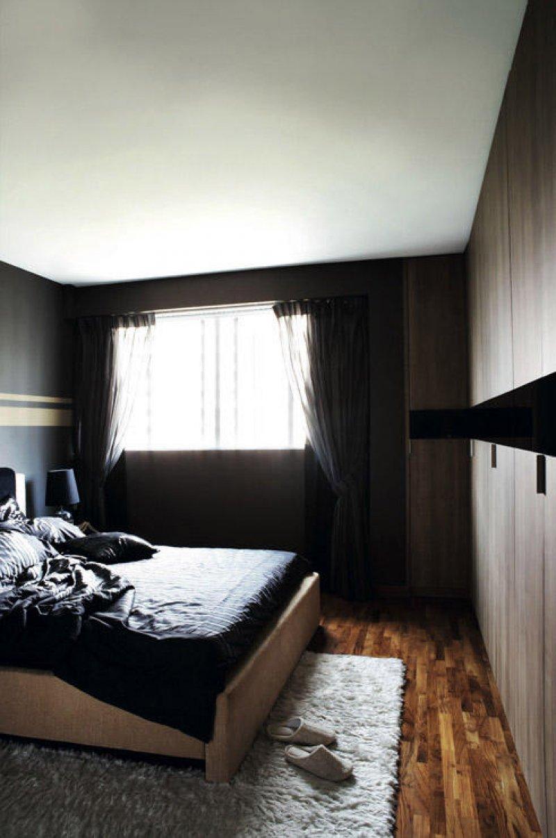 Dormitorul unui burlac