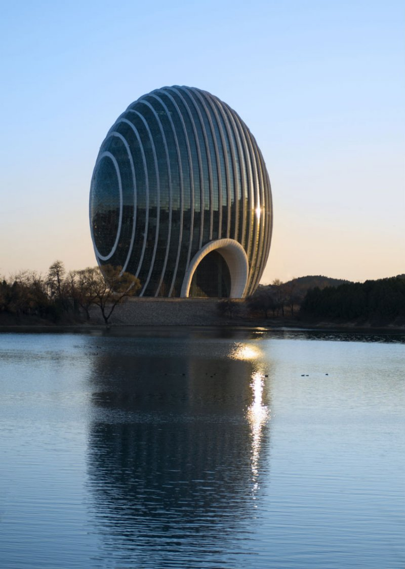 Hotelul-scoica din Beijing