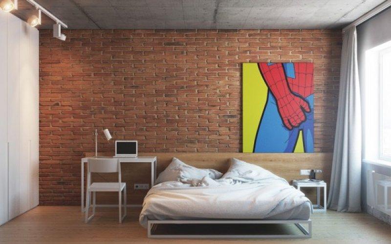 Dormitor si birou - design interior creativ