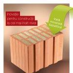 Wienerberger lansează un nou produs inovativ, unic pe piața din România, Porotherm 36,5 TermoPlus, pentru zidărie fără termoizolație suplimentară