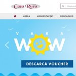 Casa Rusu relanseaza site-ul mobilacasarusu.ro si introduce noi game de produse