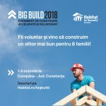 Habitat for Humanity cauta 100 voluntari care vor construi 8 case in 5 zile la BIG BUILD 2018