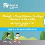 Victor Hanescu alearga in echipa Habitat for Humanity la Bucharest International 10K