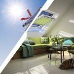 Ruloul exterior parasolar si ruloul opac interior VELUX – un duo ideal pentru mansarda ta!